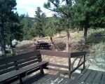 West side deck and campsite at the OA-Frame