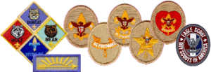 Boy Scout rank patches